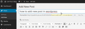 how-to-add-new-post-in-wordpress