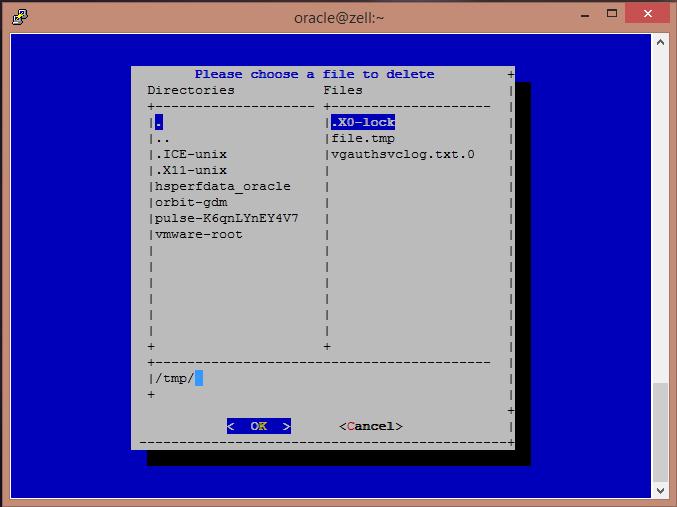Oracle Enterprise Linux's Dialog2