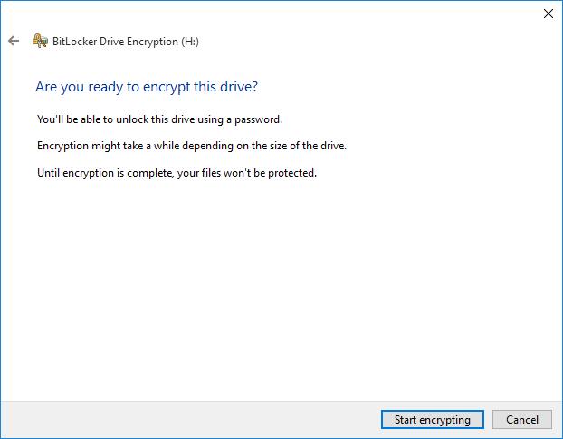 startencrypting