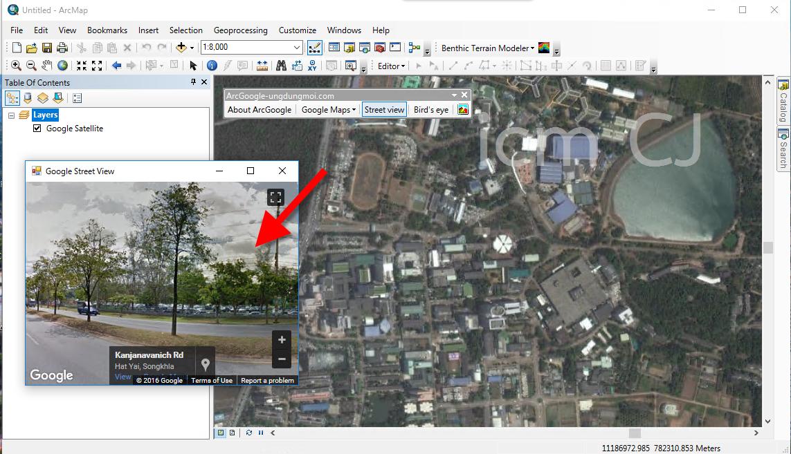 การติดตั้งและใช้งาน ArcGoogle for ArcGIS เพื่อใช้ Google Satellite