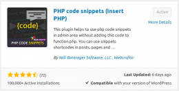 PHP Code snippets