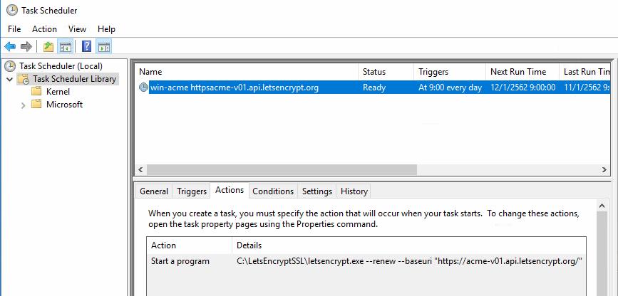 ติดตั้ง Let's Encrypt Certificate สำหรับ SSL Sites บน IIS